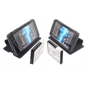Фото Расширенный аккумулятор с чехлом для Sony Xperia TX (Чёрный)