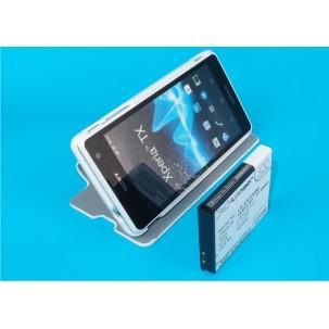 Фото Расширенный аккумулятор с чехлом для Sony Xperia TX (Белый)