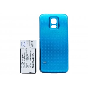 Фото Расширенный аккумулятор для Samsung Galaxy S5 mini (Голубой)