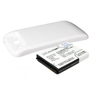 Фото Расширенный аккумулятор для Samsung Galaxy S3 GT-I9300 / Galaxy S III (Белый)