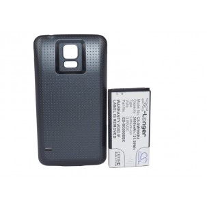 Фото Расширенный аккумулятор для Samsung Galaxy S5 GT-I9600 / Galaxy S V (Чёрный)