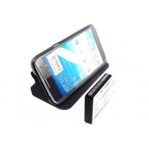 Фото Расширенный аккумулятор с чехлом для Samsung Galaxy Note 2 GT-N7100 / Galaxy Note II (Чёрный)